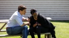 Prime Minister Justin Trudeau and Celina Caesar-Chavannes, an Independent MP for Whitby, Ont. who left the Liberal caucus in March, meet on Friday, June 14, 2019. (Source: Celina Caesar-Chavannes, Twitter)