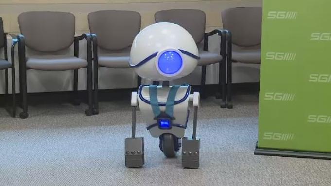 SGI introduces new robot ambassador.