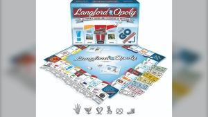 A rendering of the Langford-opoly board game is shown. (Outset Media)