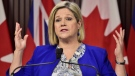 Ontario NDP Leader Andrea Horwath speaks during a press conference at Queen's Park in Toronto on Monday, Dec. 17, 2018. Ontario's New Democrats are gathering this weekend to discuss party priorities and hold a vote of confidence on their leader of ten years. THE CANADIAN PRESS/Frank Gunn