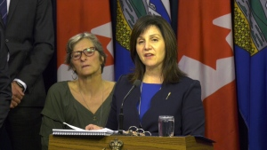 Alberta Education Minister Adriana LaGrange, seen here in a file photo, is implementing a number of changes to how the province's education system is funded.