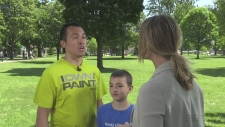 Newsmaker interview with Ryan Johnson,10, and his father