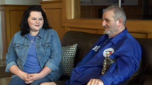 Natasha McGean is raising money to help her father Glen McGean see a Toronto Blue Jays game.