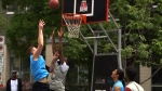Competing to become a champion basketball player