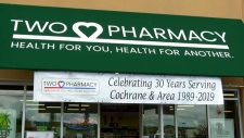 A pharmacist in the Town of Cochrane is using his retirement party as a way to push the message that smoking kills.