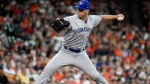 Toronto Blue Jays starting pitcher Clayton Richard delivers during the first inning of a baseball game against the Houston Astros, Saturday, June 15, 2019, in Houston. (AP Photo/Eric Christian Smith)