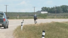 Cyclists are out on the road this weekend for a charity marathon in support of an organization to help families with developmental disabilities in Lethbridge.