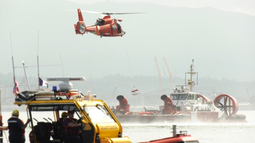 Coast Guard, SAR teams conduct dramatic exercises in Burrard Inlet