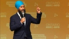 NDP Leader Jagmeet Singh talks about his party's election platform in Hamilton, Ont. on Sunday, June 16, 2019.