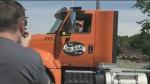 Kids get behind the wheel of heavy machinery