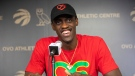 Toronto Raptors' Pascal Siakam takes questions from the media in Toronto on Sunday, June 16, 2019. THE CANADIAN PRESS/Chris Young
