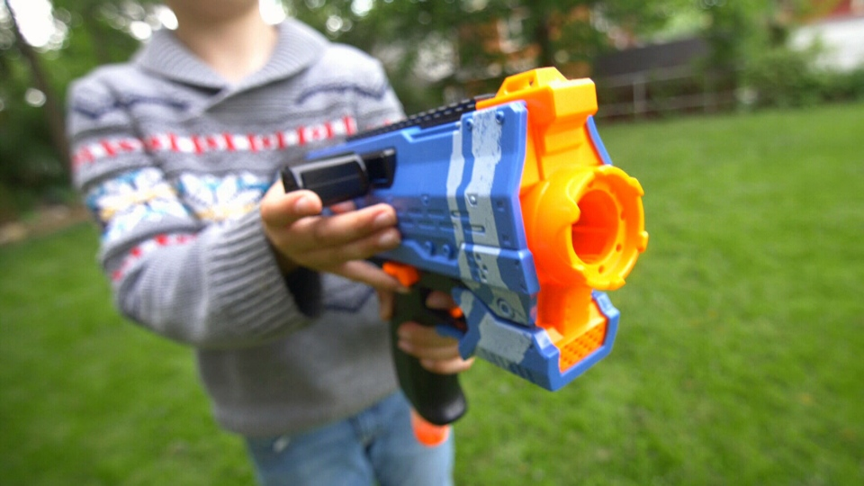 A Nerf gun is seen in this file image.