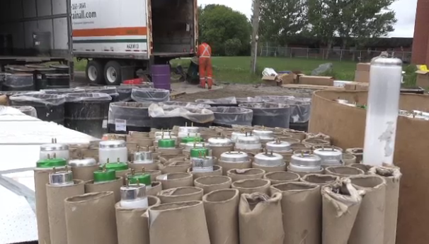 Timmins held a Hazardous Waste Day to help residents dispose of these items