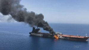 U.S. blames Iran for attack on oil tankers