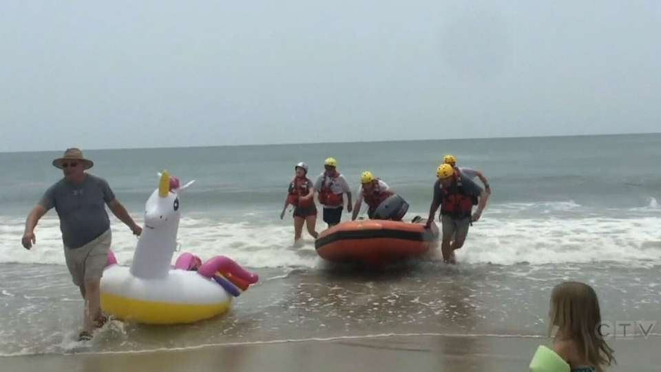 After an eight-year-old boy was swept out to sea on a pool toy in North Carolina, water rescue teams are reminding beachgoers about the dangers of using inflatables in open waters.