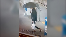 Romana Tokarova was last seen by her family at home on Friday. This CCTV image of her was captured at the Shawnessy CTrain station.