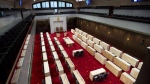 The new temporary Senate Chamber at the Senate of Canada Building, formerly the Government Conference Centre, is shown in Ottawa on December 13, 2018. THE CANADIAN PRESS/Justin Tang
