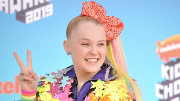 JoJo Siwa arrives at the Nickelodeon Kids' Choice Awards on Saturday, March 23, 2019, at the Galen Center in Los Angeles. (Photo by Richard Shotwell/Invision/AP)