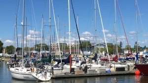 The marina in Gimli, Man. is captured on a sunny June morning. (Source: Deean and Ian Shanley)