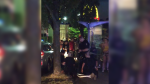 Police arrest a 22-year-old Surrey man following an alleged stabbing outside a McDonald's restaurant in East Vancouver on June 16, 2019.
