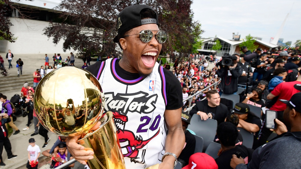 Hundreds of thousands gather in downtown Toronto for Raptors parade, rally