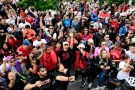 Fans cheer during the 2019 Toronto Raptors Championship parade in Toronto on Monday, June 17, 2019. THE CANADIAN PRESS/Frank Gunn
