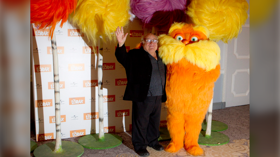 Actor Danny DeVito during a photocall for the The Lorax on March 12, 2012. (AP Photo/Joel Ryan)
