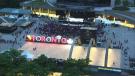 Timelapse: Raptors fans pour into downtown Toronto