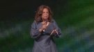 Oprah Winfrey spoke at the Bell Centre