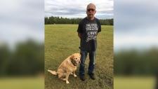 Charles Gachnang and his dog Eddy. (Suppled: EPSB)