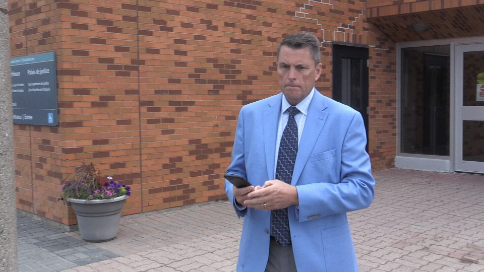 Douglas Ross, former Barrie Nissan general manager, leaves the Barrie courthouse after being sentenced for mischief on June 17, 2019 (CTV News/MikeWalker)