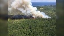 Municipal District of Lesser Slave River fire