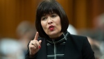 Minister of Health Ginette Petitpas Taylor responds to a question during Question Period in the House of Commons Monday June 17, 2019 in Ottawa. (THE CANADIAN PRESS/Adrian Wyld)