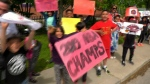 Etobicoke school, Raptors parade