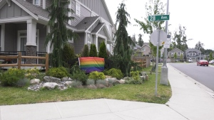 A dispute over a Pride flag has taken over an Aldergrove community.