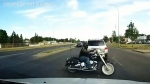 Dash cam video shows dangers for motorcyclists