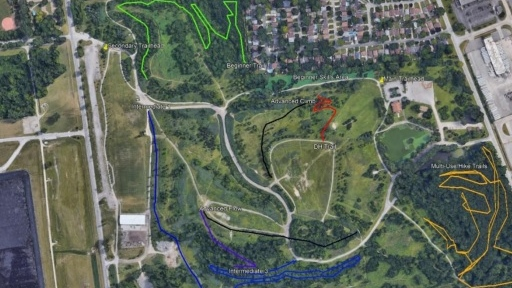 Malden Park off-road cycling