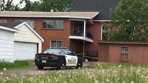 Fire on Cathcart Street in Sault Ste. Marie (Nicole Di Donato/CTV Northern Ontario)
