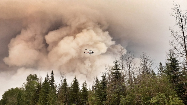The Chuckegg Creek wildfire is pictured on June 16, 2019. (Souce: Government of Alberta)