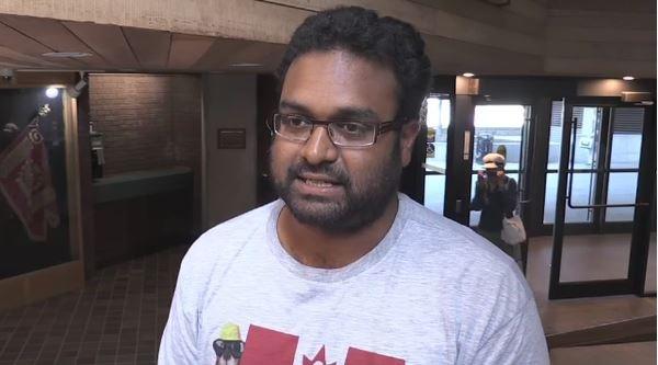 Chrishna Sukhavasi arrived in Canada in 2011 from India (Brittany Bortolon/CTV Northern Ontario)