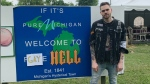Prankster Elijah Daniel purchased Hell, Michigan, on June 17 to rename it for two weeks in protest of the U.S. State Department's ban on flying the Pride flag at American embassies.(Twitter/ElijahDaniel)