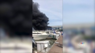 A mysterious boat fire broke out at a Richmond marina on Monday, June 17.