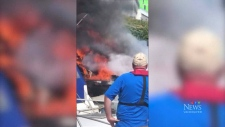 A fire at a Richmond, B.C. marina destroyed two boats and damaged two others on June 17, 2019.