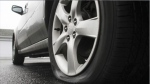 Generic image of a flat tire.