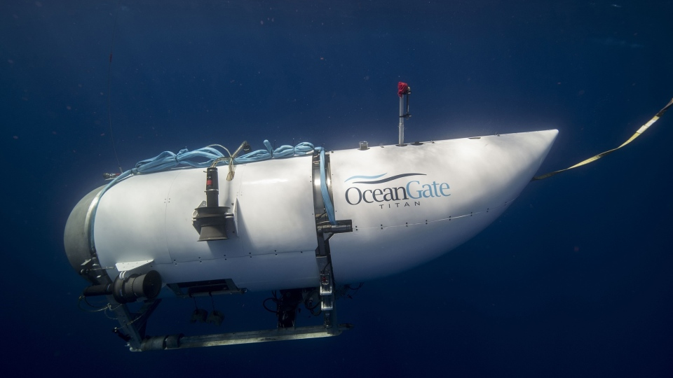 OceanGate Expedition's exploratory submarine Titan is shown in this undated handout photo. (THE CANADIAN PRESS/HO-OceanGate)