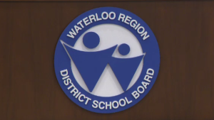 A sign for the Waterloo Region District School Board.