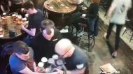 Irish waiter spills tray of beer twice