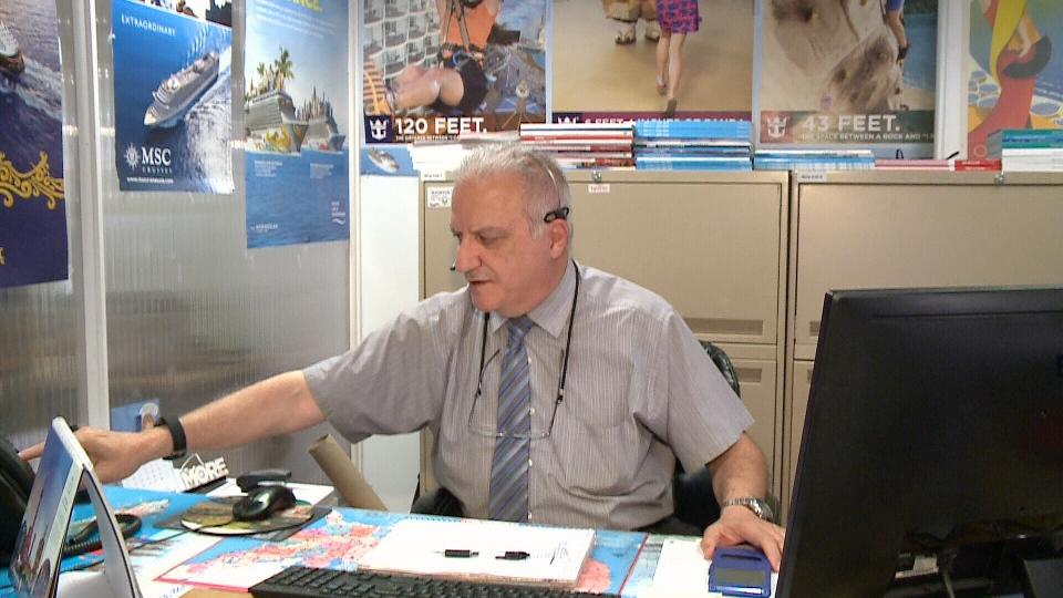 Travel agent Mario Naim with Handa Travel.