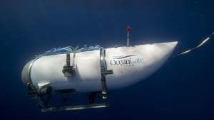 OceanGate Expedition's exploratory submarine Titan is shown in this undated handout photo. THE CANADIAN PRESS/HO-OceanGate MANDATORY CREDIT