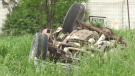 A 70-year-old pickup driver was airlifted to hospital with serious injuries.